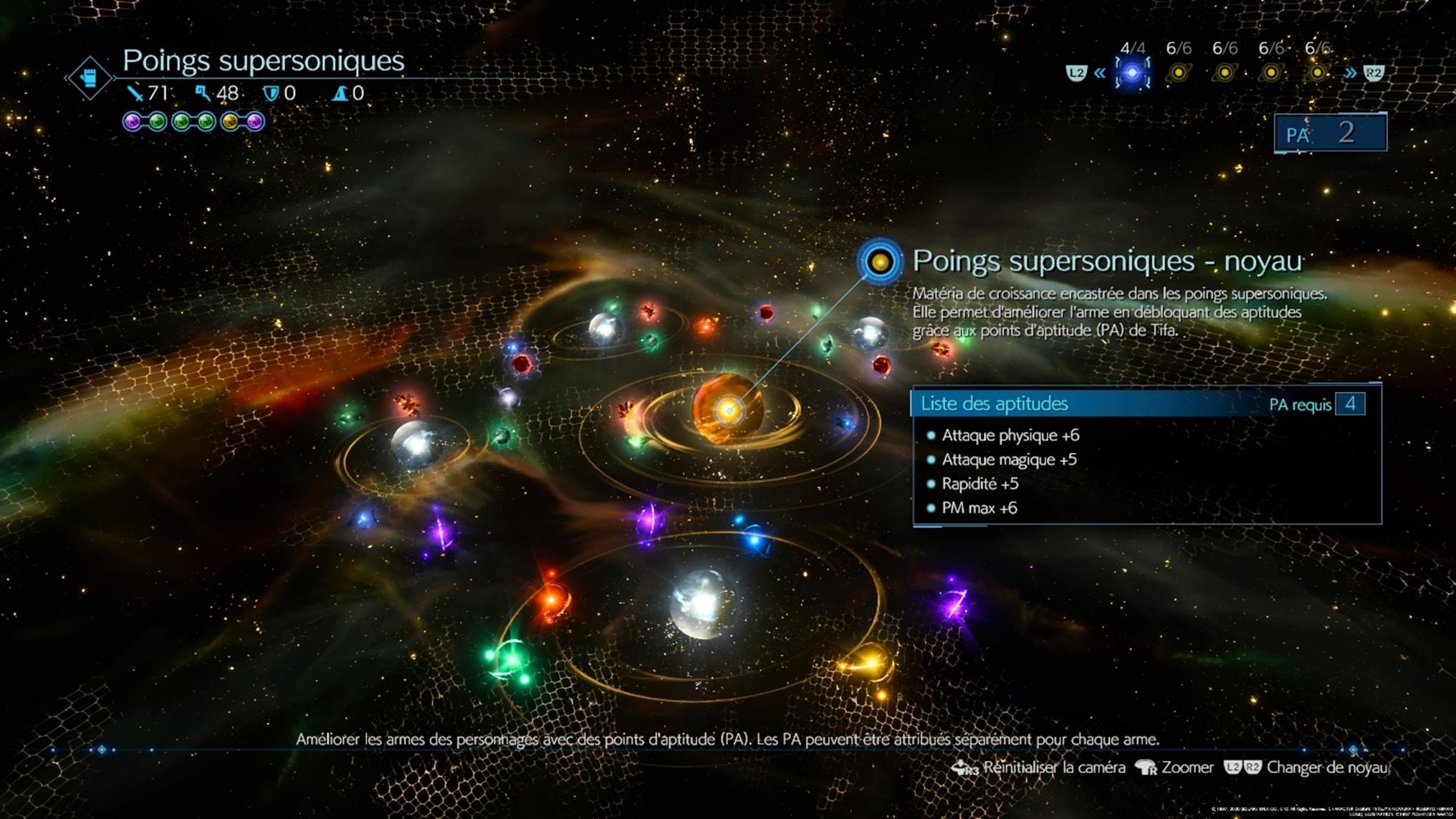 Le système de customisation des armes de Final Fantasy 7